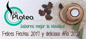 postal de Navidad restaurante La Platea Valencia