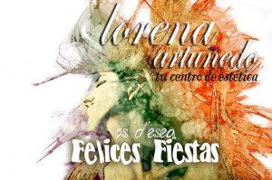 Navidad postal Lorena Artuñedo estética Bétera