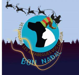 postal Navidad animales Veterinaria Les Alfàbegues Bétera